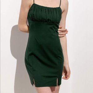 Green Babydoll Mini Dress
